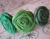 Shades of Green Fabric Flower Headband