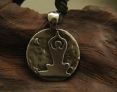 Sterling Silver Yoga Pose Pendant