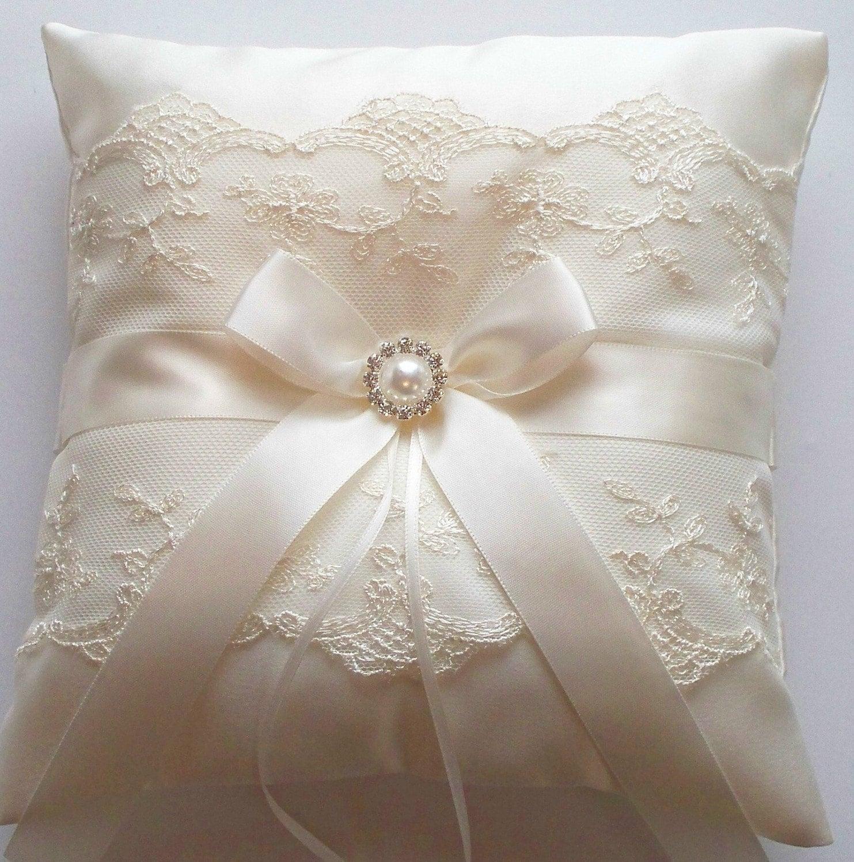 Ringbearer Pillow Wedding Cushion Wedding Ring Pillow with