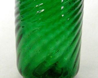 Antique Victorian Emerald Green Single Glass
