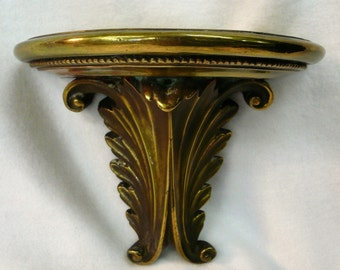 Pair of Brass Clad Carved Bookends or  Brackets with Classical Styling