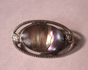 Sterling and Abalone Petite Brooch
