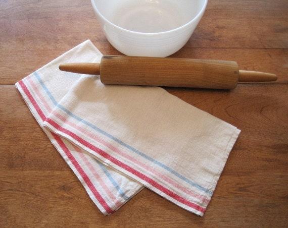 soft cotton FLOUR vintage tea time dish towels