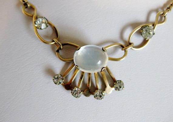 RESERVE for PAULA Vintage Van Dell Moonstone Necklace