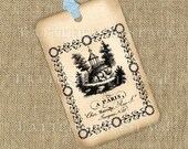 A Paris Chez Marcilly rue St Jacques Printable Gift Tags Instant Download Tattered Vintage no.302