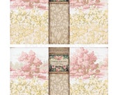 Match Box Cover Instant Download no.223 Old Book Antique Wallpaper Collage Sheet Tattered Vintage 223