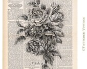 Bouquet Roses Printable Instant Download no.396 Antique Graphic Print Collage Sheet Tattered Vintage 396