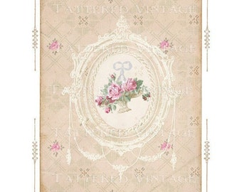 Instant Download no.262 Art Card Background Antique Wallpaper Collage Sheet Tattered Vintage 262