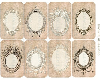 French Market Tags Instant Download no.469 Printable Gift Tags Tattered Vintage 469