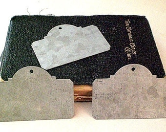 Zinc Metal Plaque Tags-Set of 3 chalkboard gift tags