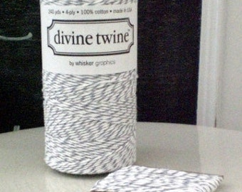 Gray White Cotton String Divine Twine Oyster Twine 10 Yards Gift Wrap Craft Supply