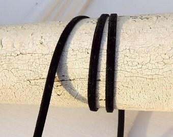 Velvet Black Velvet Ribbon 1/8 inches wide 3 yards