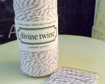 Purple White String Plum Divine Twine-10 Yards Cotton
