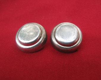 Vintage Sterling Clip on Earrings Mexico