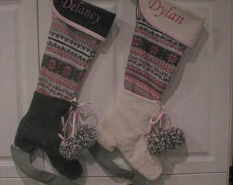 PERSONALIZED: Christmas Stockings-- Extraordinary Skates