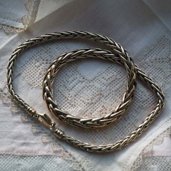 Gold Plated Heavy Serpentine Chain Necklace
