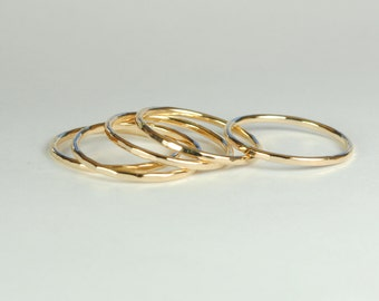 Hammered Stack Rings-