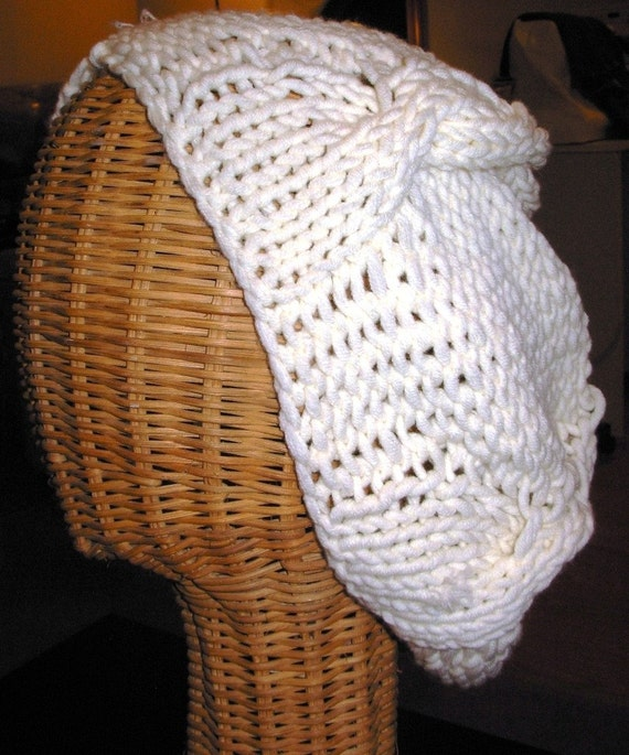 Creamy Cotton Cable Hat