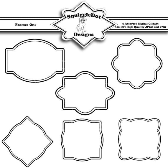 printable frame clip art digital scrapbook embellishments for cards