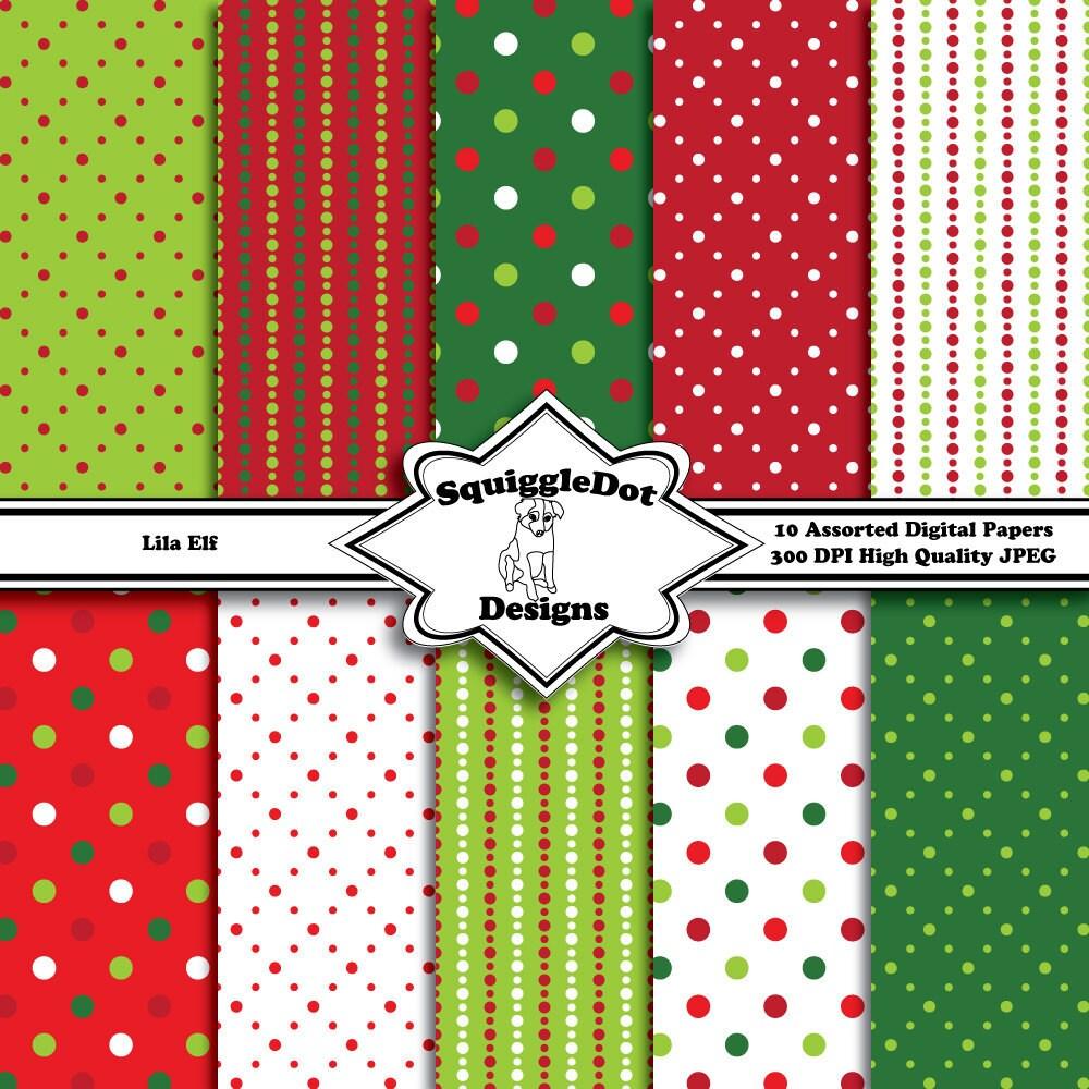 Printable Christmas Scrapbook Paper Digital printable christmas paper ...