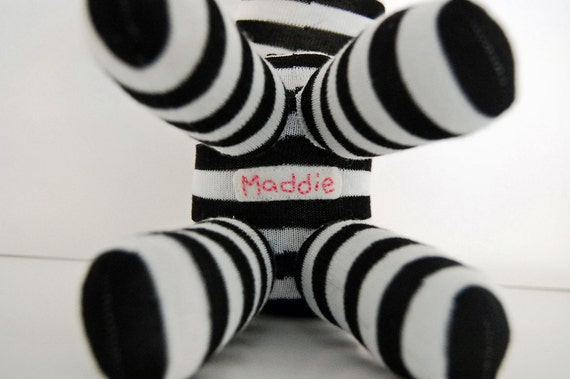 Custom Hand Embroidered Message - Additional Sock Animal Feature