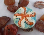 ceramic pendant specially for cuff bracelet - starfish
