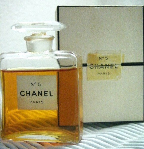 chanel no 5 parfum extrait 1 oz vintage 1940s w box. Black Bedroom Furniture Sets. Home Design Ideas