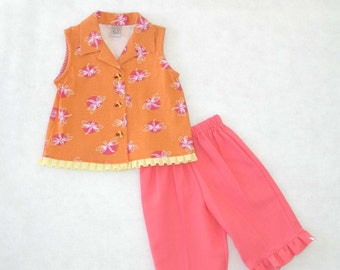 Girl Toddlers Capri Outfit
