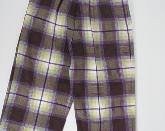 Plaid Knit Boys Pants