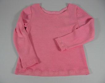 Little Girls Pink Long Sleeved t Shirt