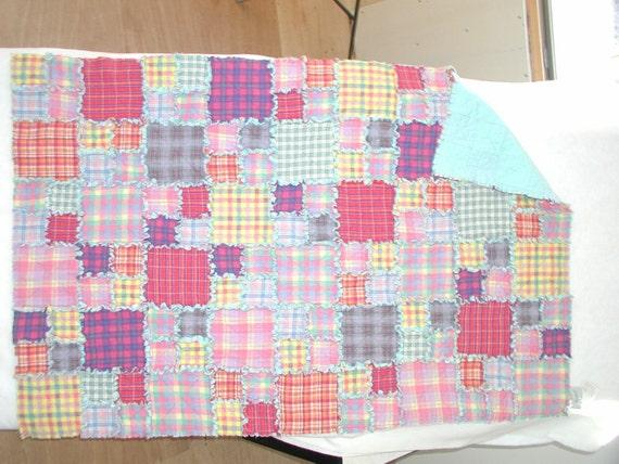Crib Size Flannel Quilt