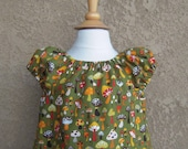 4T Toadstool Peasant Dress, In Stock and Ready to Ship