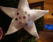 Sequinned star Christmas Decoration