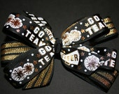 New Orleans Saints Black and Gold Bow