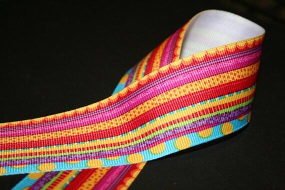 Multi Stripes Colorful Grosgrain Ribbon 1.5 width, 4 yards