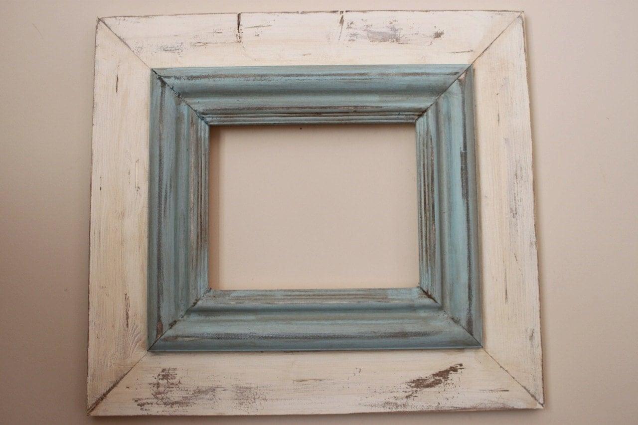 8x10 wide wood uber distressed wood frame by deltagirlframes - Distressed Frames
