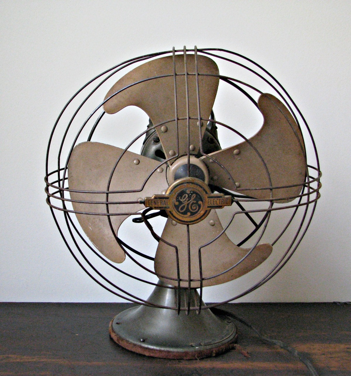 Vintage General Electric Desk Fan Works By