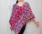 Hand Knit Poncho  Knitted poncho for women. Chunky Knit Cape, Cozy Poncho Gift idea for her Chunky Knitted Poncho Wrap