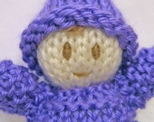 Baby Gnome Doll Knit Stuffed Toy Child Cute Soft Kids Hand Knitted Waldorf Softie Doll Hand Embroidered Face