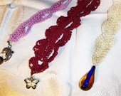 Crochet Pattern - Set of 3 Lacy Bookmarks