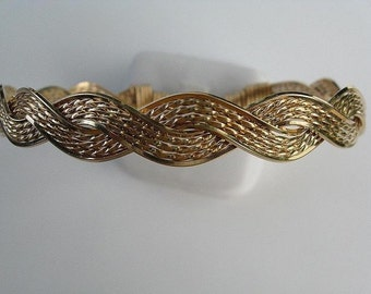 All Gold Wire  Braided Bracelet
