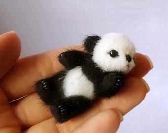 Miniature PANDA PATTERN PDF , make a bearpdf e-pattern, pattern for mini teddy bear, easy teddy bear pattern,  cute micro panda tutorials