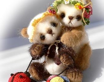 Miniature teddy bear PATTERN, how to make a teddy bear, Kawaii Plush Bear PDF, stuffed animal pattern, cute teddy bear sewing pattern, panda