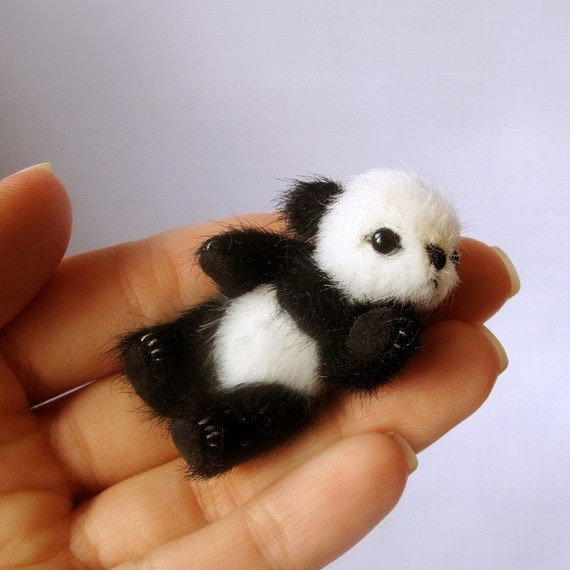 Miniature PANDA PATTERN PDF , make a bear pdf e-pattern, pattern for mini teddy bear, easy teddy bear pattern,  cute micro panda tutorials