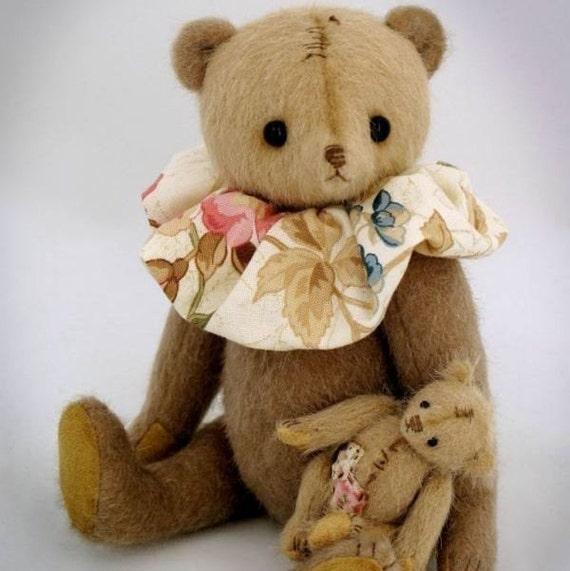 Artist bear PATTERN Maternity - emailed PDF - by Tatiana Scalozub