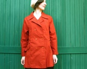 Vintage PUMPKIN PIE 70s Rust Orange Trench Coat (M/L)