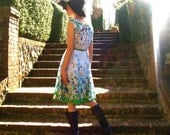 70s EVERY SUNNY DAY Cotton Sun Dress Happy Garden Party