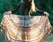 Indian Cotton Skirt... Gypsy Skirt... DARJEELING EXPRESS (xl/xxl)