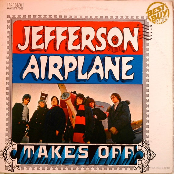 Vintage Vinyl Record... JEFFERSON AIRPLANE... Takes Off (1966)