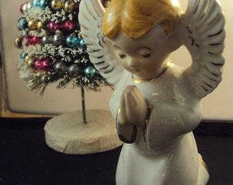 Vintage Ceramic Praying Angel Boy Made in Japan